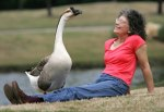 Aggie AKA Sam the Goose and Laurieann Dygowski.
