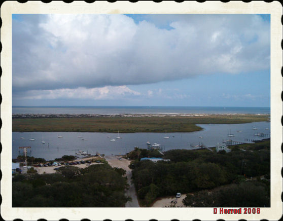 View from top of the lighthouse.