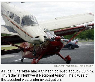 2 planes collide at the Northwest Airport