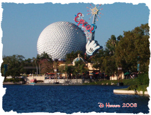 Taken from the World Showcase looking across the lagoon.