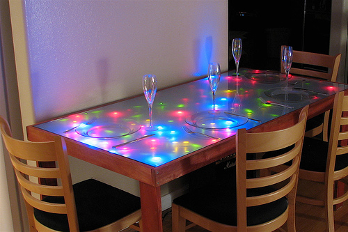 Do-It-Yourself LED Dining table