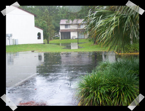 Taken from our front porch during TS Fay