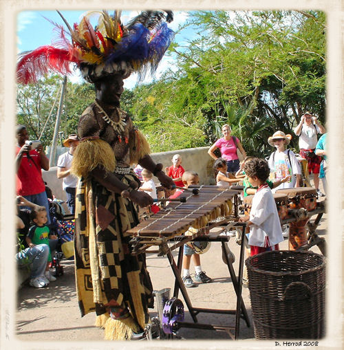 Performer in the Africa section.