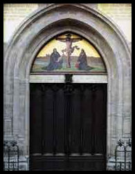 Door of the Schlosskirche (castle church)