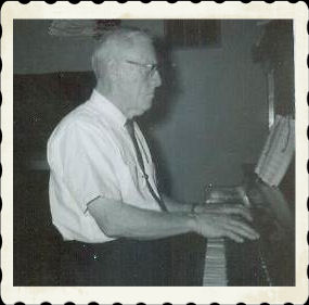Granddad loved to sing and play the piano.