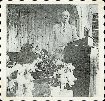 Granddad behind the pulpit at Eastside. He was the first pastor there.