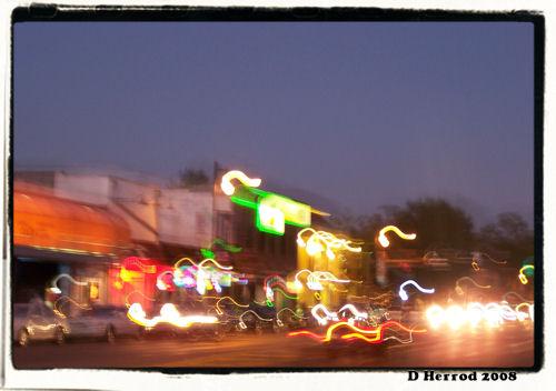 University Avenue at night.