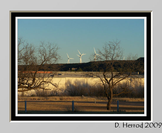 Wind Turbines in Big Spring, Texas.