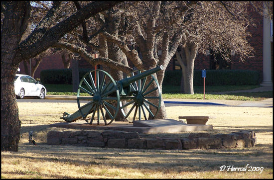 Cannon located near the Reflection Pond.