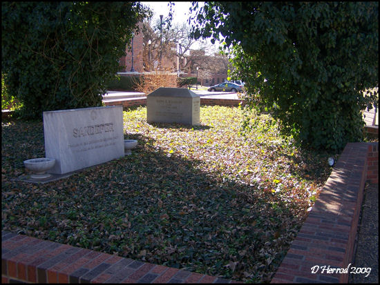 Memorial located between Moody Center and Sandefer Hall.