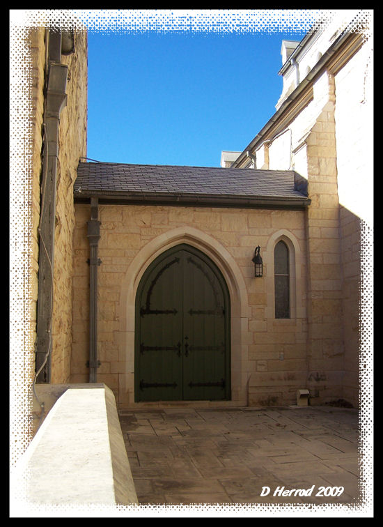 Thought the church has some interesting looking doors and courtyard areas.
