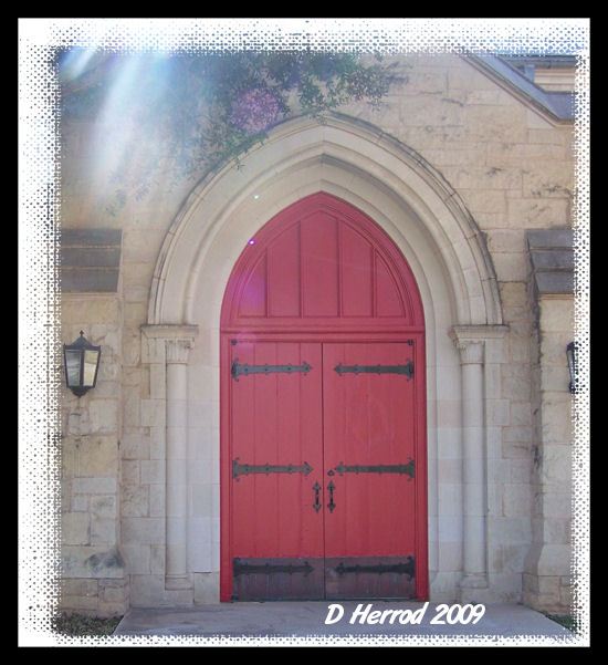 This door reminds me of the doors of the CD covers from Rich Mullins Songs & Songs 2.