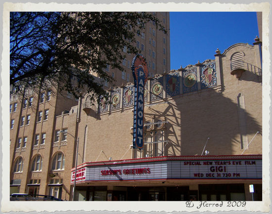 The Paramount Theater in downtown Abilene.