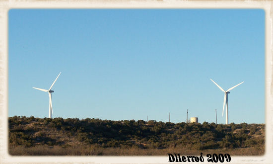 Wind turbines in west Texas.