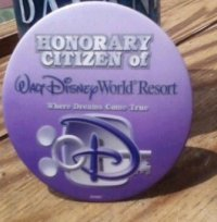 Pin we recieved at Walt Disney World.