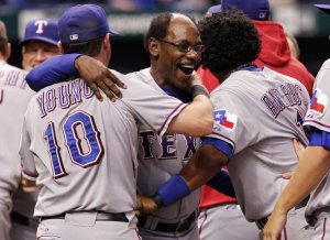 Rangers advanced to ALCS.