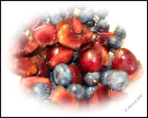Cherries and Blueberries