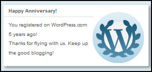 5 Yrs At Word Press