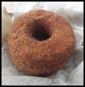 Cronut: A doughnut made from croissant dough and fried.