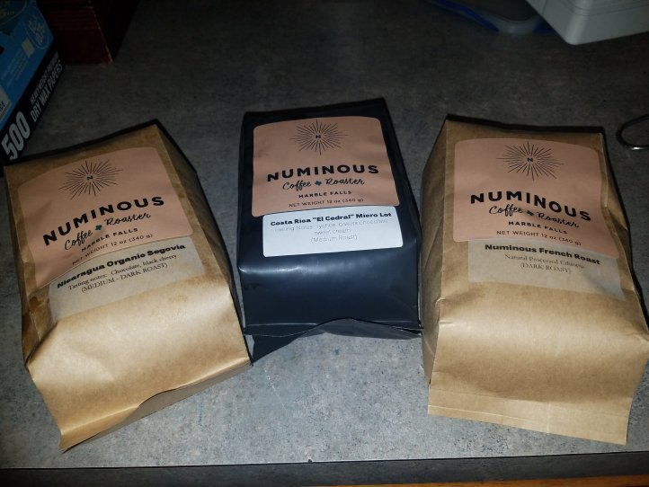 Whole bean coffee from the Numinous.