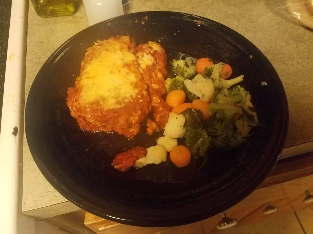 Chicken Parm Bake with California Vegtable Mix